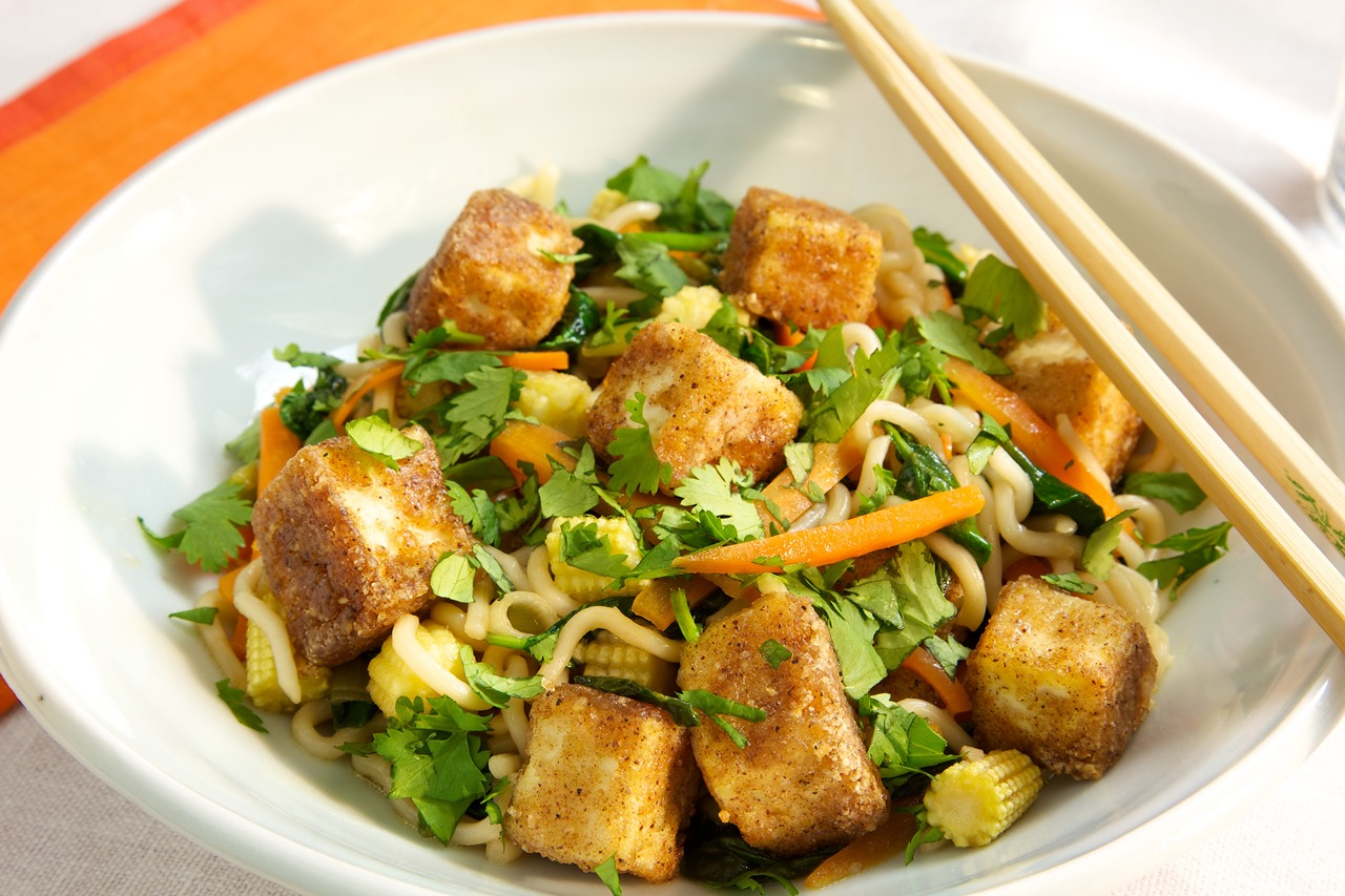 Five Spice Tofu Stir-Fry with Noodles - Jewish Vegetarian Society
