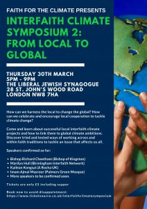 Interfaith Climate Symposium 2: From Local to Global @ The Liberal Jewish Synagogue | England | United Kingdom