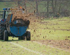 JVS image - Manure being sprayed on field