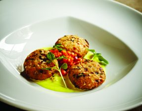 Spiced Chickpea Cakes with Quinoa Salad