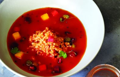 Chilled Green Mango & Tomato Soup
