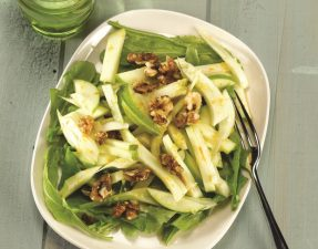 Apple and Fennel Salad with Orange Ginger Cider Vinaigrette