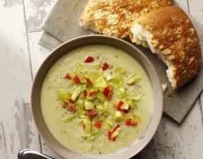 Leek & Cauliflower Soup with Lemongrass & Coconut Milk high res