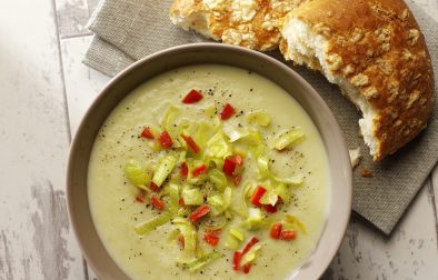 Leek & Cauliflower Soup with Lemongrass & Coconut Milk high res
