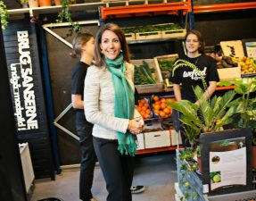 Princess Marie of Denmark at the launch of the Wefood supermarket in Copenhagen Wefood/Facebook