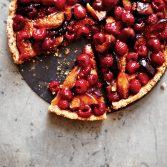 Roasted Fig & Raspberry Tart