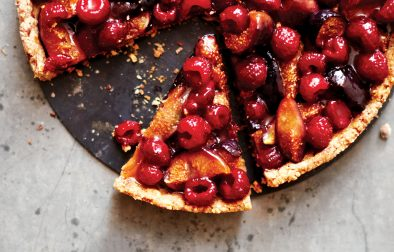 Roasted Fig & Raspberry Tart