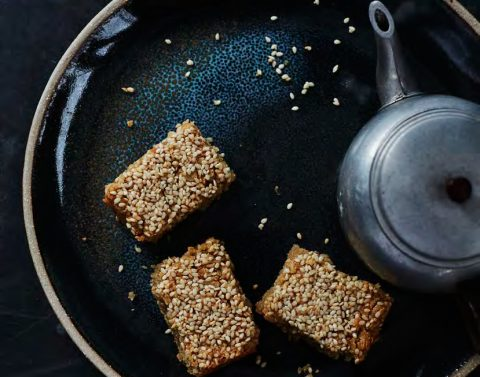 Tahini and Olive Oil Oat Bars
