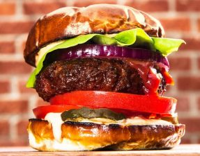 The Beyond Burger vegan burger will go on sale in Tesco in August. Photograph: Beyond Meat