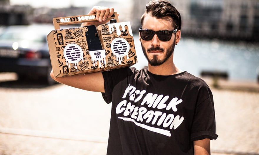 'Welcome to the cult' … an Oatly marketing campaign. Photograph: Oatly