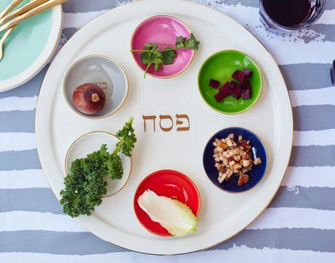 Kitchn vegan seder plate