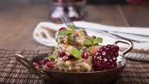 Aubergine and pomegranate salad 1a