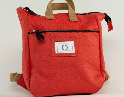 A beautiful backpack made from pineapple leaves exclusively from www.originalsatchelstore.com. Price £137.00