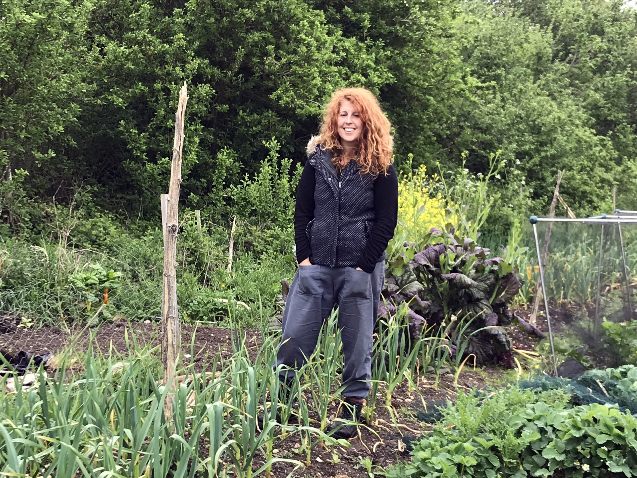 Talia Chain at Sadeh, the farm she founded, in Kent, Britain. RNS photo by Catherine Pepinster