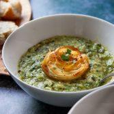 Leek potato cavalo nero soup small