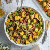 Quinoa Salad with Avocado, Mango and Pomegranate