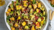 Quinoa Salad with Avocado, Mango and Pomegranate