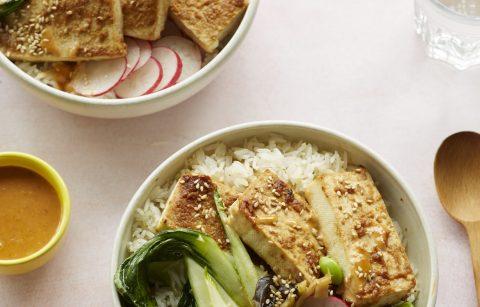 Miso Tasty Firm Tofu - Baked Miso Tofu Rice Bowl Nov 202010180