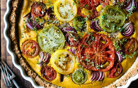 TURMERIC, THYME & TOMATO WITH RED ONION VEGAN QUICHE - Joanne Wood - 1MB